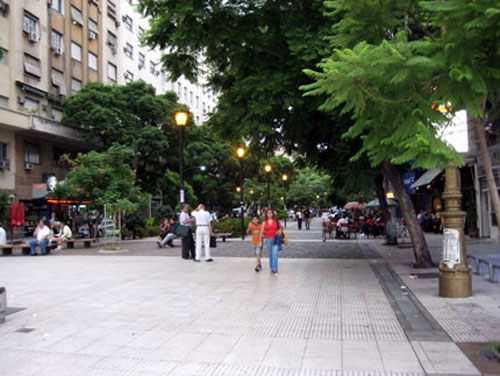 One of the many beautiful streets in Buenos Aires