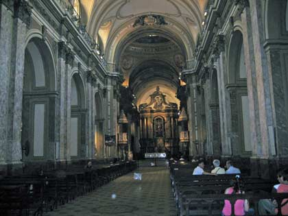 Inside the Cathedral. Notice the huge columns.