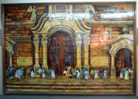 Tile mural in subway at station Plaza Italia, Buenos Aires (I'm still here)