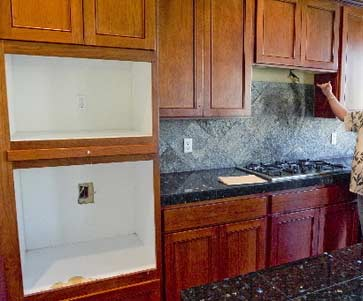 This foreclose home has  been stripped of the oven, microwave and range vent, together with 29 missing door knobs, 28 light fixtures, 10 floor registers, eight faucets or shower heads and one air conditioner