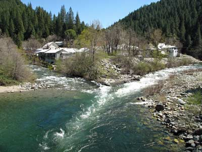Convergence of Downie River on the left & Yuba River on the right.