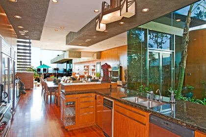 Kitchen in 3,800 square foot home