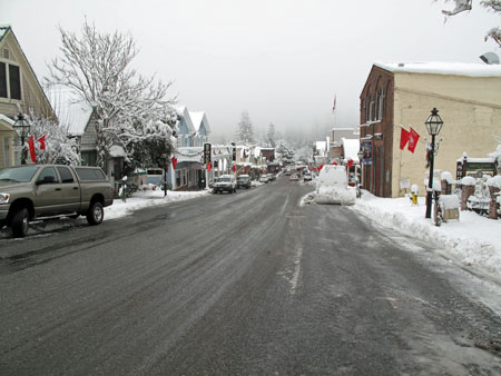 Looking down Broad Street Nevada City December 7, 2009