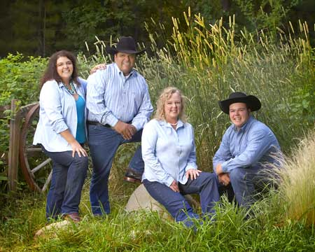 The Casillas Family is this year's Nevada County Fair Family of the Year. From left to right – Beth, Dan, Emmalee and Manuel.  Photo taken by Shaffers Originals of Grass Valley