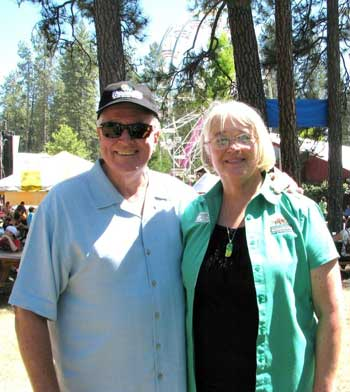 Huell and Sandy at the Nevada County Fair