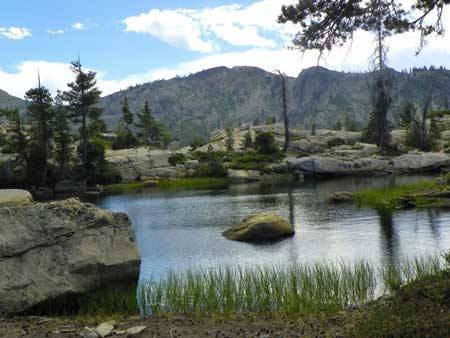 One of the lakes in Grouse Ridge, Nevada County, CA