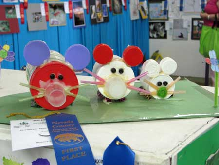 Children's Artwork at the Fair - Photo courtsey of Nevada County Fair