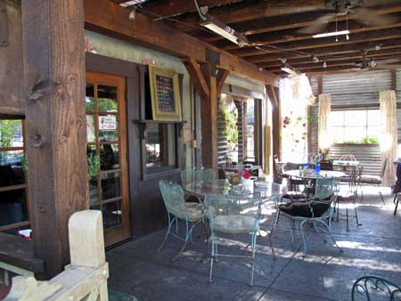 Outside seating in Diegos - Photo by John J. O'Dell