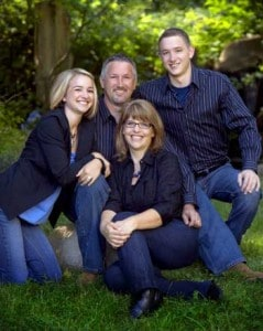 The Granholm Family – (from left to right) Kaycee, Danny, Katie and Ben –  recognized at the Nevada County Fair as the Family of the Year, 2011.  Credit: Photo provided by Shaffers Originals