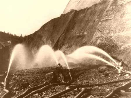 Hydraulic mining, Nevada County, CA, 1866