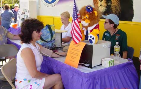 :  Local Lions Clubs will provide free glaucoma and vision screening services at the Nevada County Fair on Friday, August 10. Photo credit: Northern California Lions Sight Association