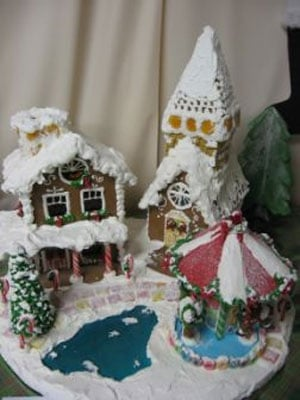 Winner of the 10th Annual Gingerbread House Competition of the County Christmas Faire People's Choice winner Kathy Kinney of Penn Valley
