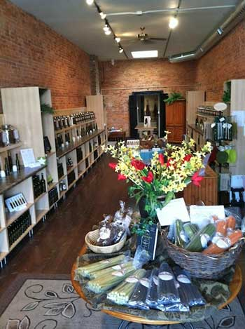 Olive Vitality show room.  Photo credit: Jeanette Angell