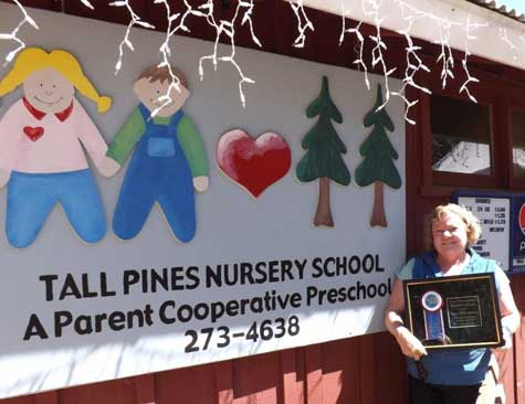 Debby Biddinger Receives Prestigious Blue Ribbon Award.  Photo Credit: Nevada County Fairgrounds