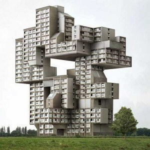 Stacked housing; Photo courtesy of http://www.funnypica.com/