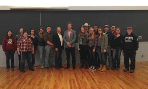 On Thursday night, John Paye, former San Francisco 49er and Super Bowl Chamption, spoke to local 4H and FFA students as part of the Fairgrounds Foundation's speaker series. This monthly series provides business advice, tips and leadership experience to local high school students.